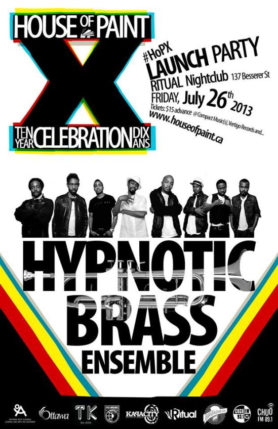 House of Paint, Ottawa, Launch party, Hypnotic Brass Ensemble