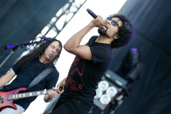 William DuVall (right) and Mike Inez (left) of Alice in Chains performing at the RBC Bluesfest in Ottawa on Sunday, July 14th, 2013 ~ RBC Bluesfest Press Images PHOTO/Mark Horton