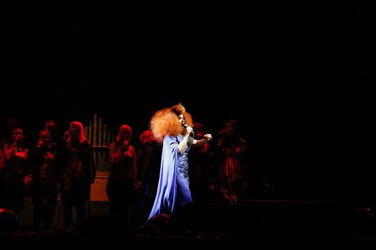 Björk performing at the RBC Bluesfest in Ottawa on Saturday, July 13th, 2013 ~ RBC Bluesfest Press Images PHOTO/Mark Horton