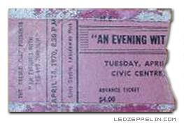 Led Zeppelin, Ottawa, Civic Centre, Canada