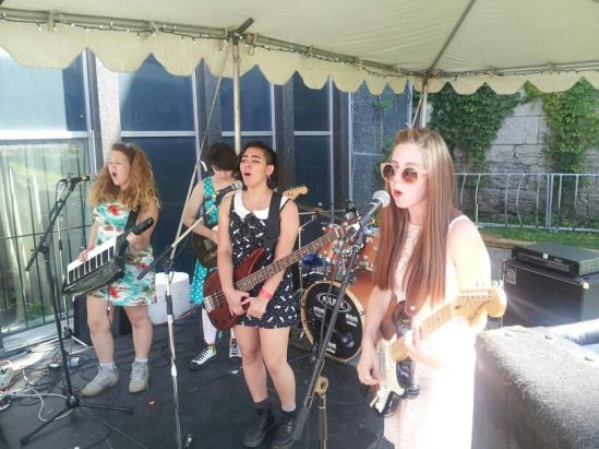 pins and needles, rock camp for girls, arboretum festival