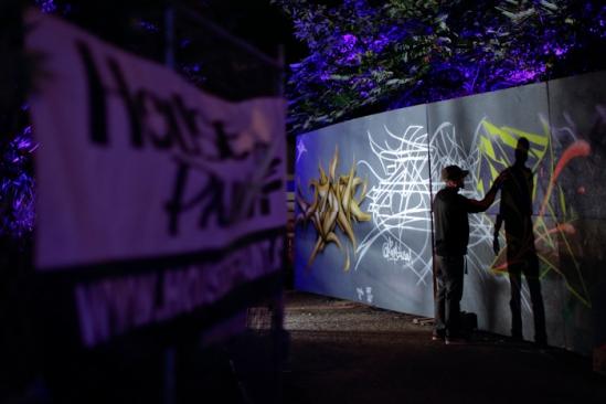 House of Paint under the Bronson Bridge on Friday, September 13, 2013.  (David Kawai / House of Paint)