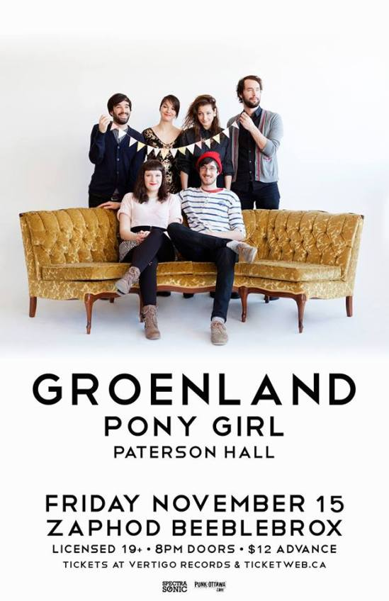 Groenland, Pony Girl, Ottawa, Music, Zaphod's