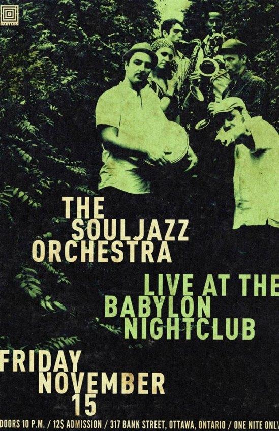 Soul Jazz Orchestra, Up & Up, Ottawa, Babylon