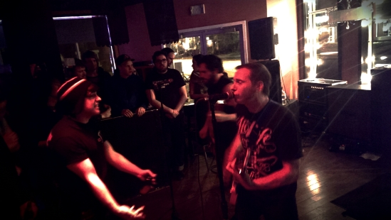 Veara rocking out with an adoring fan.