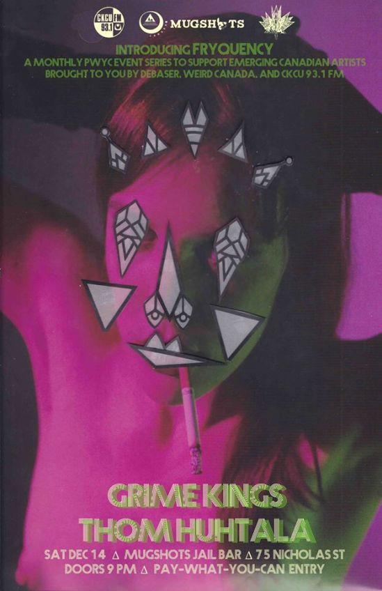 Grime Kings, Ottawa, Debaser, Weird Canada, mugshots, ottawa music