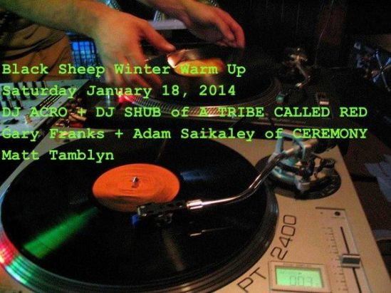 black sheep inn, a tribe called red, dj shub, adam saikaley, dj acro, gary franks, matt tamblyn