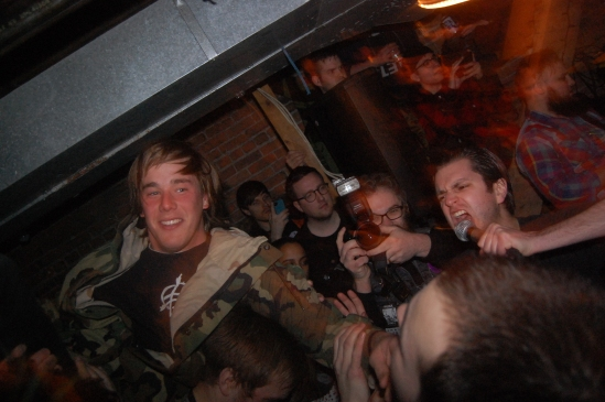 Crowdsurfing madness as Pregnancy Scares rip 614 Gladstone apart.