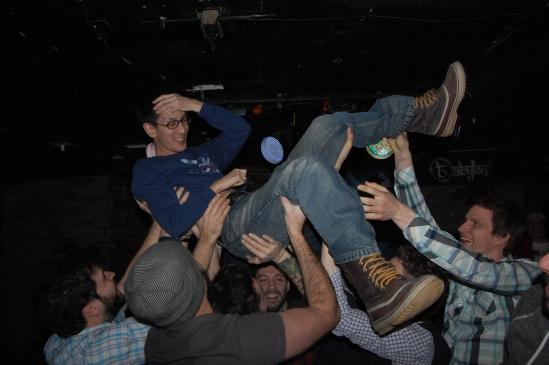 Flying birthday boy, Ming Wu, at Babylon in Ottawa.