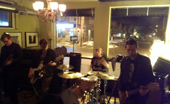 Caraway laying it down at Pressed in Ottawa.