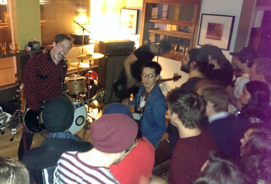 The Dirty Nil rocking out at Pressed in Ottawa.
