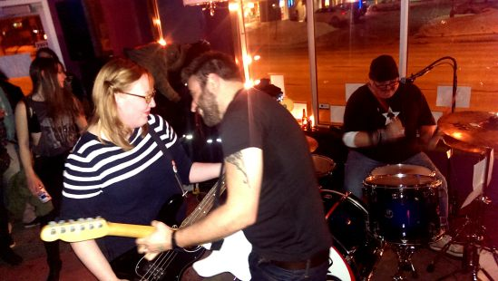 Punk rock love at its finest. Finderskeepers rocking Lunneta in Ottawa for their EP release.