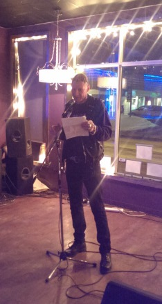 Chris Walter reading an excerpt from his book SNFU: What No One Else Wanted To Say, while in Ottawa.