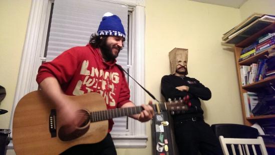 Richard Barrie (New Elders) rocking the living room at Robot!House!! in Ottawa.