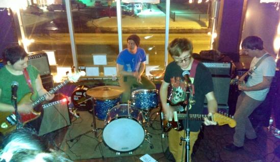 Swearin' rocking a jam packed Luneta in Ottawa.