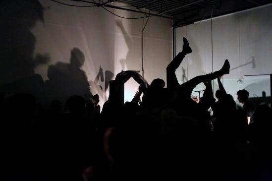 The yips, gabba hey, air loom, garage rock, ottawa, indie, music,crowd surfing,